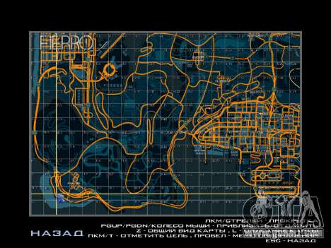 Map with sectors in racing style for GTA San Andreas forth screenshot