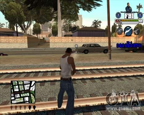 C-HUD for FBI for GTA San Andreas