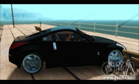Nissan 350Z Rock for GTA San Andreas back left view