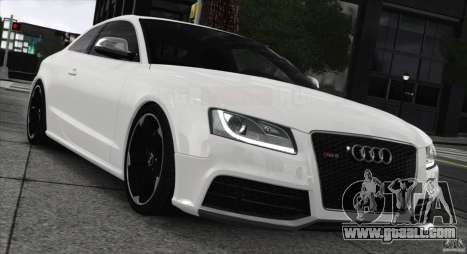 Audi RS5 2011 for GTA 4 back left view