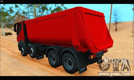 Iveco Trakker 2014 Tipper (IVF & ADD) for GTA San Andreas back left view