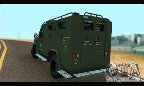Lenco Bearcat SANG MedEvac 2009 for GTA San Andreas