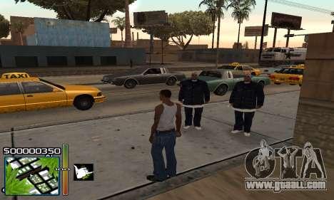 С-HUD RastaMan for GTA San Andreas second screenshot