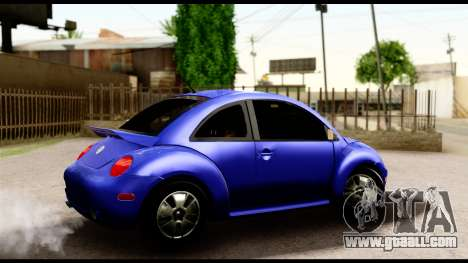 Volkswagen New Beetle for GTA San Andreas back left view