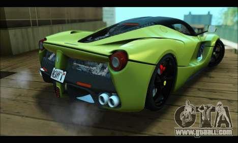 Ferrari LaFerrari 2014 for GTA San Andreas inner view