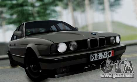 BMW 525 E34 Rims for GTA San Andreas back left view
