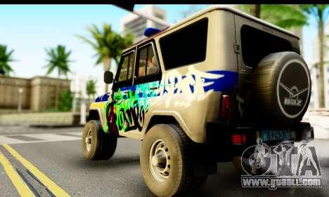 UAZ hunter 315195 for GTA San Andreas left view