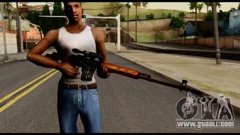 SVD from Metal Gear Solid for GTA San Andreas third screenshot