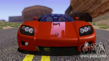 Koenigsegg CCX 2006 Road Version for GTA San Andreas inner view