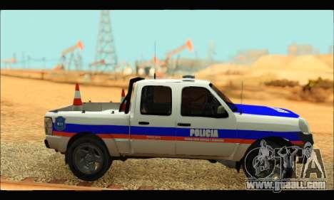 Ford Ranger 2011 Policia Bonaerense for GTA San Andreas back left view