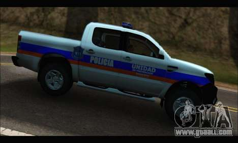Ford Ranger P.B.A 2015 Text2 for GTA San Andreas left view