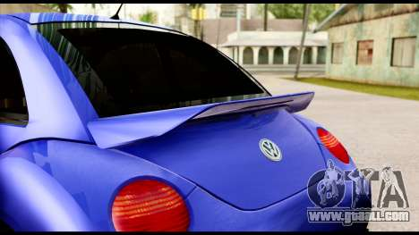 Volkswagen New Beetle for GTA San Andreas back view