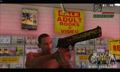 Leopardo Deagle for GTA San Andreas forth screenshot