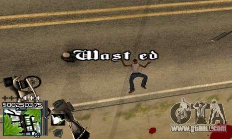 С-HUD RastaMan for GTA San Andreas forth screenshot