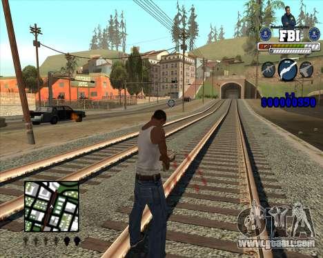 C-HUD for FBI for GTA San Andreas second screenshot