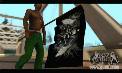 Flag Black Skul for GTA San Andreas third screenshot