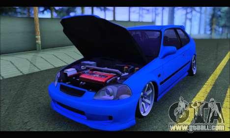 Honda Civic HB (BLG) for GTA San Andreas back view