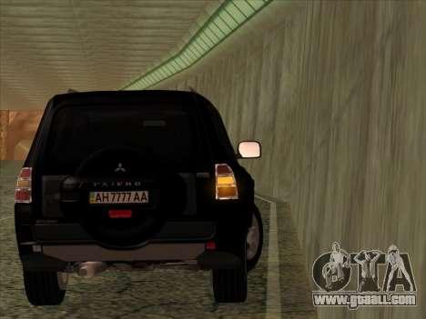 Mitsubishi Pajero for GTA San Andreas back view