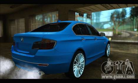 BMW 5 series F10 2014 for GTA San Andreas left view