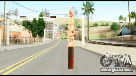 Knife with Blood for GTA San Andreas