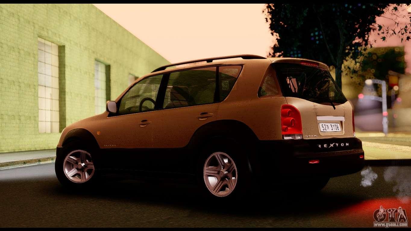 Ssangyong Rexton 2005 For Gta San Andreas