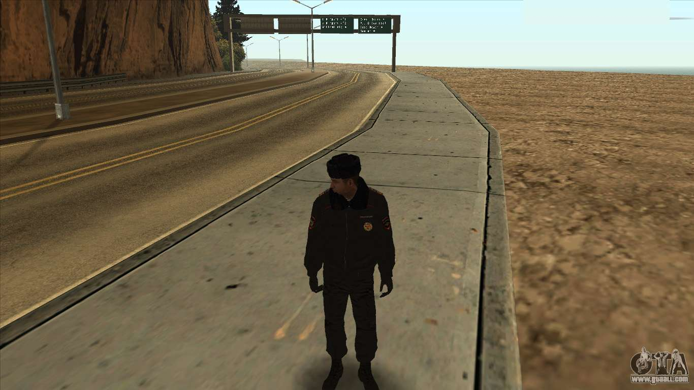 Police in Russia - winter form for GTA San Andreas