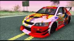 Mitsubishi Lancer Evo IX Hirasawa Yui K-ON Itash for GTA San Andreas