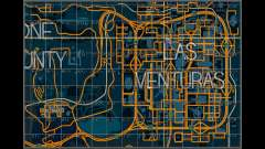 Map with sectors in racing style for GTA San Andreas