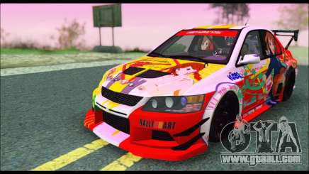 Mitsubishi Lancer Evo IX Hirasawa Yui K-ON Itash for GTA San Andreas