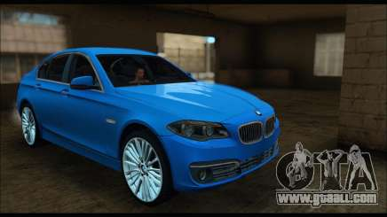 BMW 5 series F10 2014 for GTA San Andreas
