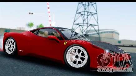 Ferrari 458 Italia Stanced for GTA San Andreas