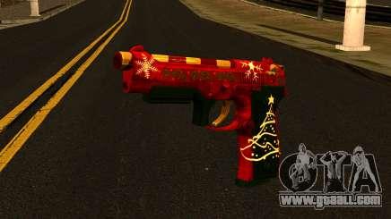 Christmas Gun for GTA San Andreas