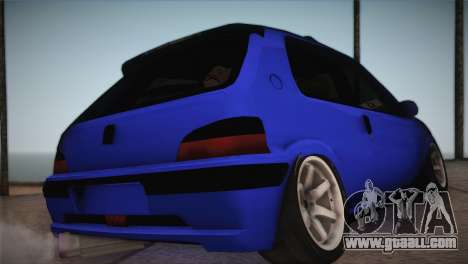 Peugeot 106 GTI F Tuning for GTA San Andreas left view