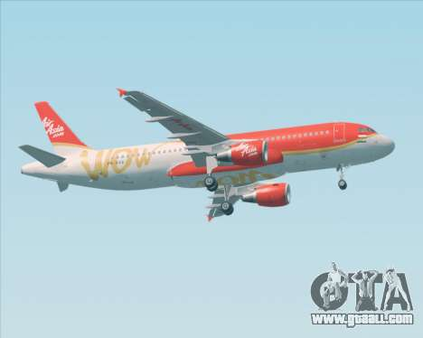 Airbus A320-200 Indonesia AirAsia WOW Livery for GTA San Andreas back left view