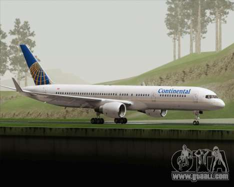 Boeing 757-200 Continental Airlines for GTA San Andreas left view