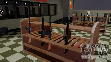 3D models of weapons in Ammu-nation for GTA San Andreas second screenshot