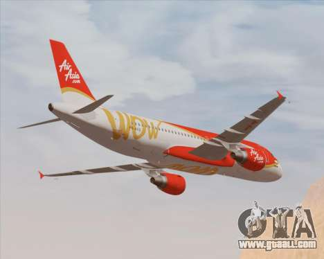 Airbus A320-200 Indonesia AirAsia WOW Livery for GTA San Andreas engine