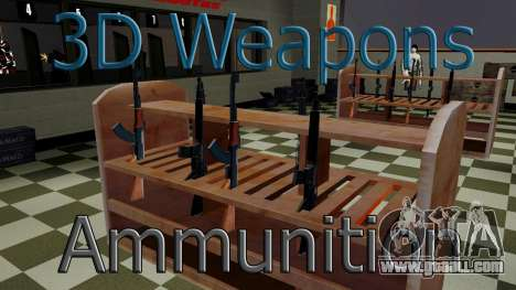 3D models of weapons in Ammu-nation for GTA San Andreas