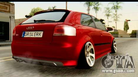 Audi S3 2007 Camber Edit for GTA San Andreas left view