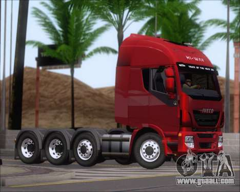 Iveco Stralis HiWay 8x4 for GTA San Andreas back view