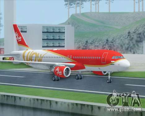 Airbus A320-200 Indonesia AirAsia WOW Livery for GTA San Andreas right view