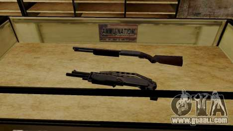 3D models of weapons in Ammu-nation for GTA San Andreas sixth screenshot