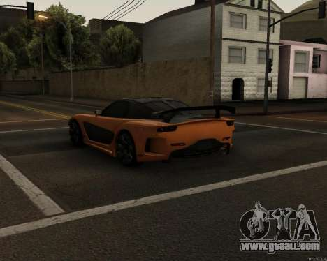 Mazda RX-7 VeilSide Drift for GTA San Andreas back left view