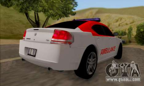 Dodgle Charger Ambulance for GTA San Andreas right view