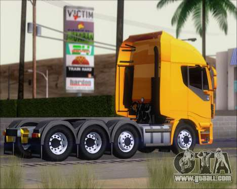 Iveco Stralis HiWay 8x4 for GTA San Andreas right view
