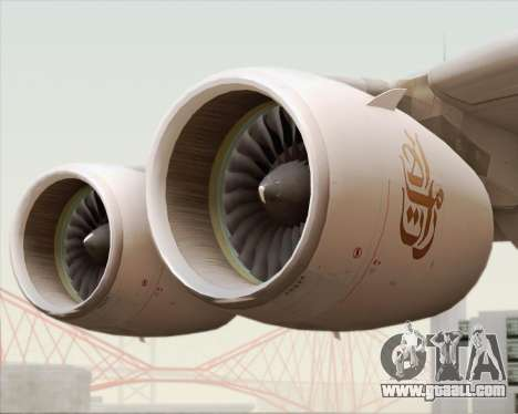 Airbus A380-800 Emirates (A6-EDJ) for GTA San Andreas