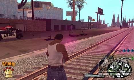 C-HUD Ghetto King for GTA San Andreas third screenshot