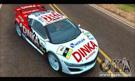 Dinka Jester Racecar (GTA V) (SA Mobile) for GTA San Andreas right view