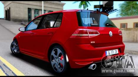Volkswagen Golf GTI 2015 for GTA San Andreas back left view