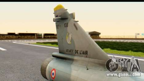 Dassault Mirage 2000-5 for GTA San Andreas right view